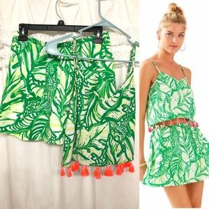 Lilly P. Two (2) piece Ramona Set in Toucan Green